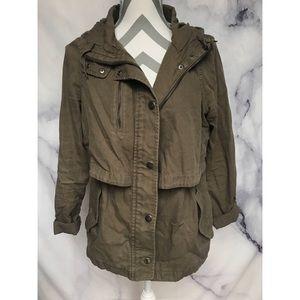 HINGE Nordstrom olive green utility jacket sz S